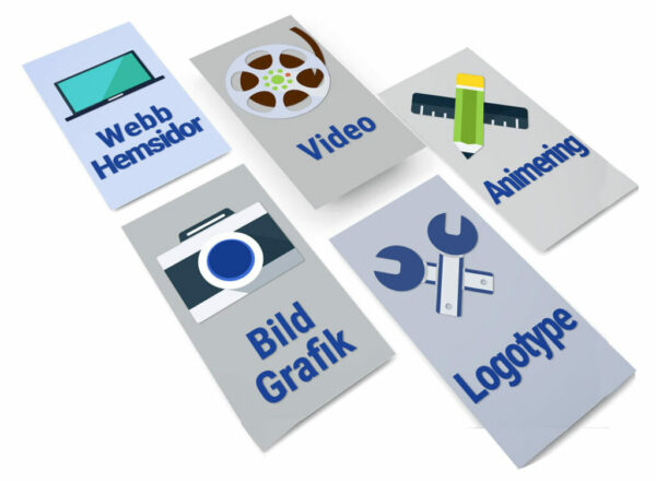 Webb, video, logotyper, bild, animering, presentationer